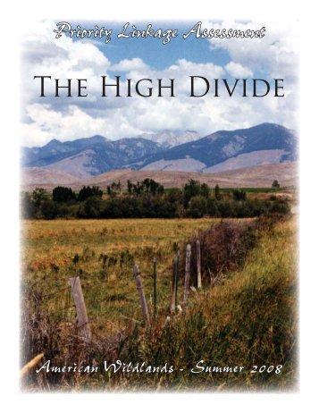 The High Divide - Montanans 4 Safe Wildlife Passage
