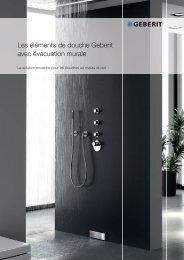 Les éléments de douche Geberit avec évacuation murale - Products