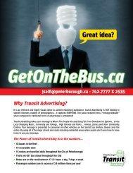 Why Transit Advertising? - City of Peterborough