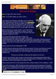 Maurice DeBroglie Biography
