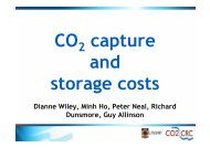 The costs of CCS - Capture and Geological storage of CO2