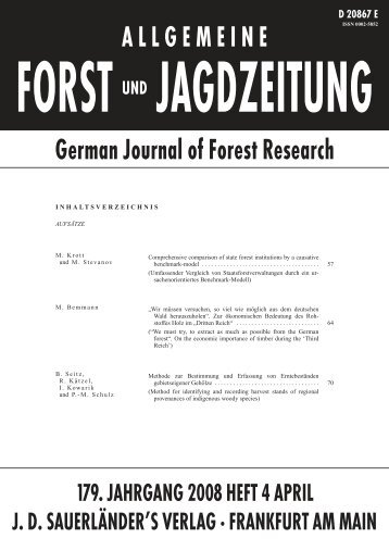 Method for identifying and recording harvest stands of regional ...