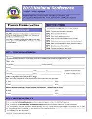 Exhibitor Registration Form - COABE