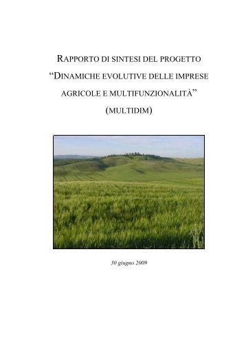 Sintesi risultati MULTIDIM - Marche Agricoltura