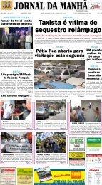 Taxista é vítima de sequestro relâmpago - Jornal da Manhã