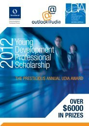 Young Development Professional Scholarship - UDIA