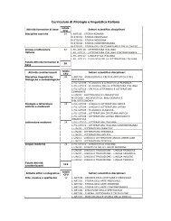 Curriculum di Filologia e linguistica italiana - CISADU