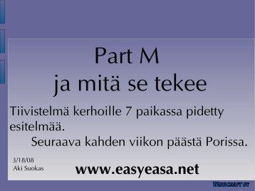 12.00 EASA Huoltomääräykset ja niiden vaikutus / Aki Suokas