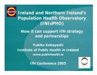INIsPHO - Institute of Public Health in Ireland