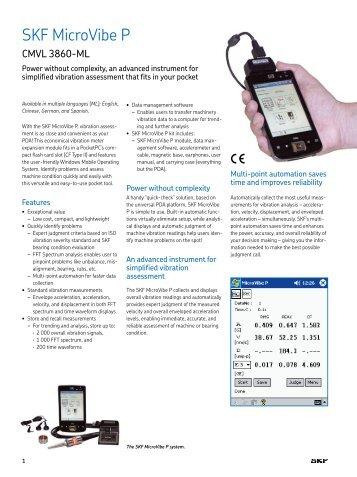 SKF MicroVibe P - Diagnostika