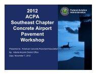 2012 ACPA Southeast Chapter Concrete Airport Pavement Workshop
