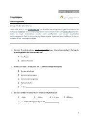finden Sie den dazugehörigen Fragebogen - Unternehmerverbände ...