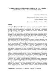 LEITURA E EMANCIPAÇÃO: A CAMPANHA DE PÉ NO ... - DHnet