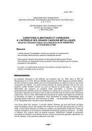 CONDITIONS CLIMATIQUES ET CORROSION À L'INTÉRIEUR DES ...