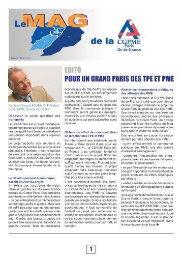 Lire le Mag - CGPME Paris Ile de France
