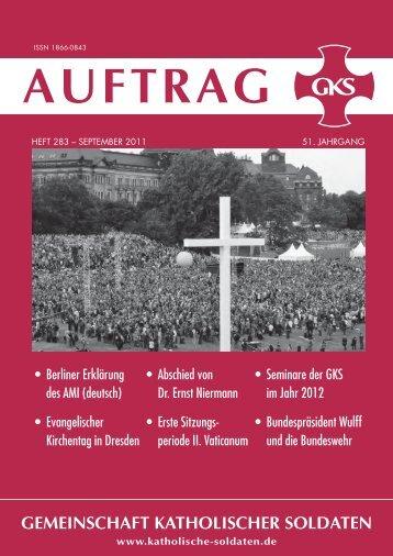 AUFTRAG_283_w.pdf - Gemeinschaft Katholischer Soldaten