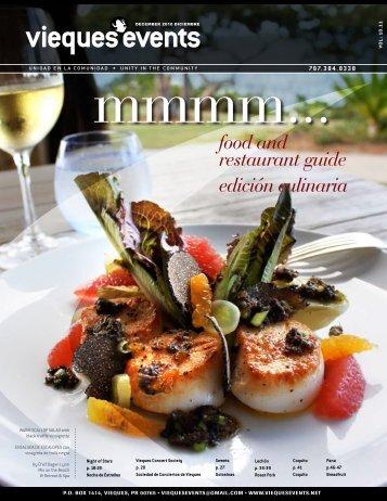 food and restaurant guide edición culinaria - Vieques Events