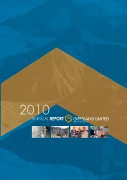 ANNUAL REPORT - Gippsland Limited