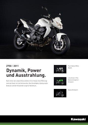 Z750 / 2011 Dynamik, Power und Ausstrahlung. - Motorrad Hoffmann