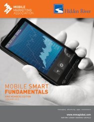 View January 2013 report - Mobile Marketing Association