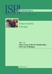 three years of eu membership - the case of hungary - Ispi