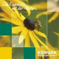 Im Einklang mit der Natur - Biopark e.V.