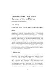Legal Origins and Labor Market Outcomes of Men and Women