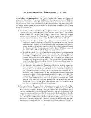 vektoren und matrizen 194168ubungsaufgaben 20 11 2011
