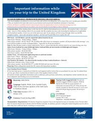 UK Emergency Contact and General Country Information - Avanti ...