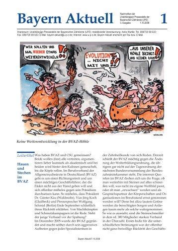 Ausgabe 03/2008 als PDF-Datei - Unabhängige Pressestelle der ...