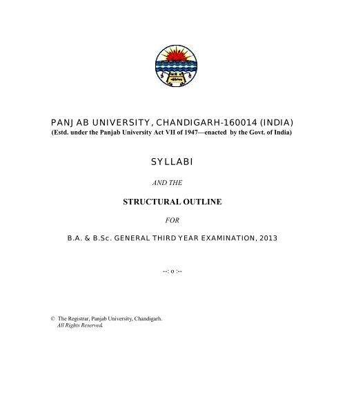 Structural Outline Ghg Khalsa College Gurusar Sadhar