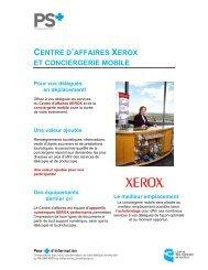 CENTRE D'AFFAIRES XEROX ET CONCIERGERIE MOBILE Pour ...