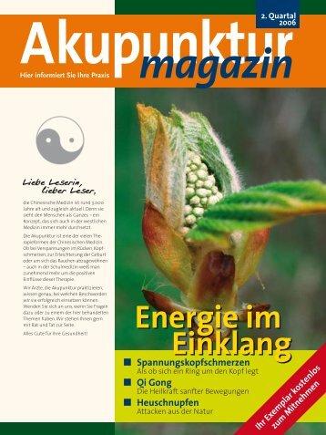 Energie im Einklang Energie im Einklang - DÄGfA