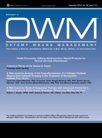 Health Economics: Utilizing Advanced Care Wound Products for