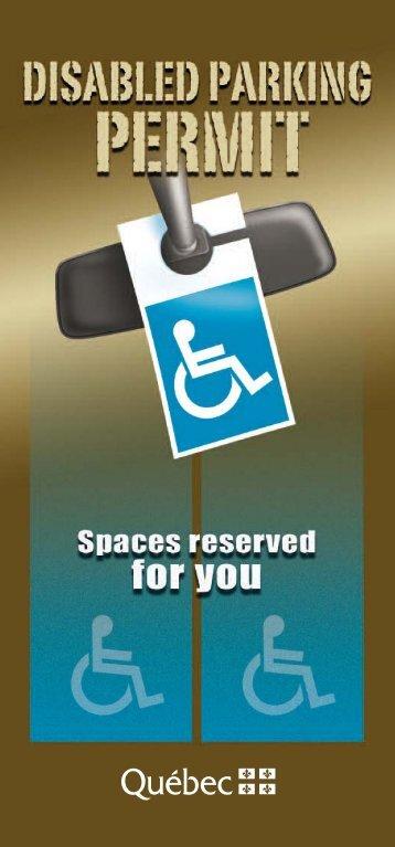 Disabled Parking Permit - Société de l'assurance automobile du ...