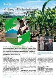 Acker, Milchvieh und Biogas im Einklang - DSV