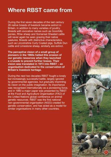Way Forward - Rare Breeds Survival Trust