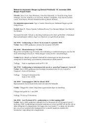 Referat fra styremøte i Bergen og Omland Friluftsråd 19. november ...