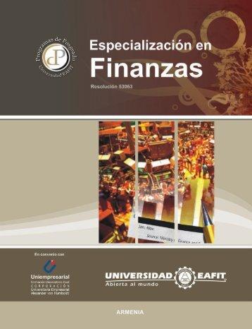 Finanzas - Universidad EAFIT