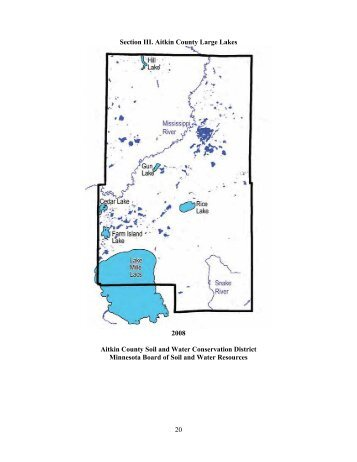 Water Plan - Large Lakes - Aitkin County Soil & Water
