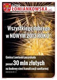 Gazeta Łomiankowska.pl nr 18 z 11 stycznia 2013 (pdf 9 MB)