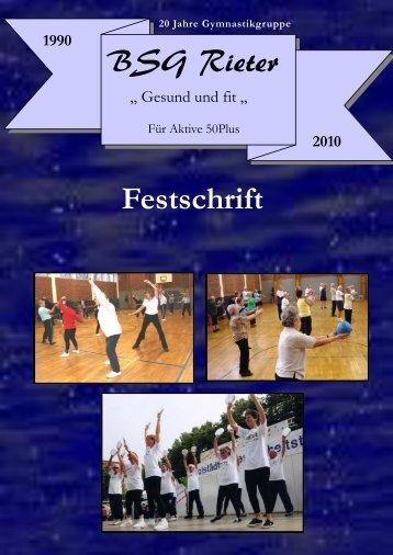 Festschrift BSG Rieter Festschrift - der Betriebssportgruppe Rieter