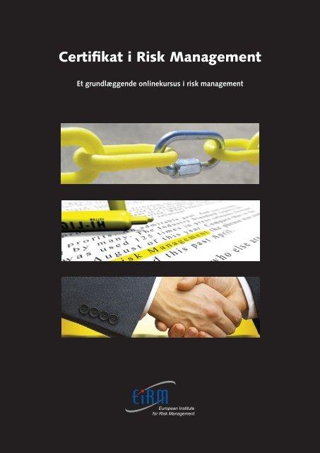 Certifikat i Risk Management - primo