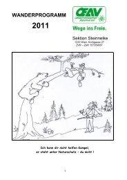 wanderprogramm 2011 - Österreichischer Alpenverein Wien