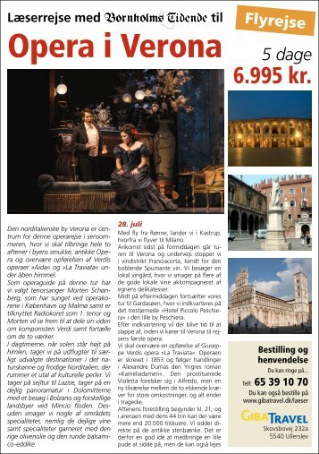Opera i Verona 5 dage - Bornholms Tidende