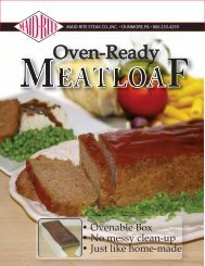 Meatloaf Oven-Ready SYSCO