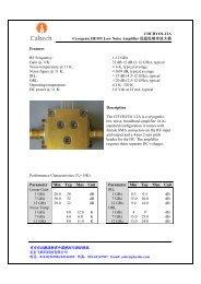 CIICRYO1-12A Cryogenic HEMT Low Noise Amplifier 低温低噪音 ...