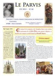 Bulletin du prieuré de Gastines - Parvis n° 60 ... - La Porte Latine