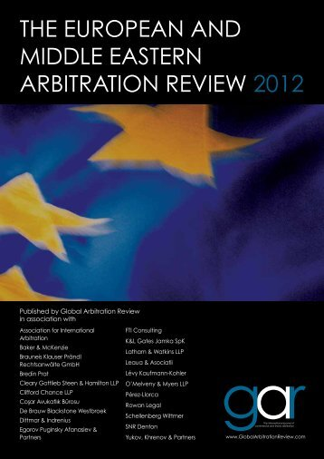 The european and middle easTern arbiTraTion ... - FTI Consulting