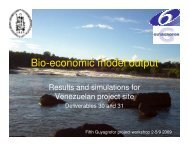 Bio-economic model output
